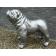 Statue Bulldog Anglais Laqué Argent Métallisé Texartes Jardinchic