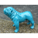 Statue Bulldog Anglais Laqué Bleu Texartes Jardinchic