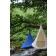 Tente Suspendue Cacoon Single Bleu et Blanc Hang In Out JardinChic