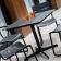 Table Bistro Ceru 70x70 Noir Ambiance Oasiq Jardinchic