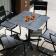 Table Bistro Ceru Noir Oasiq Jardinchic