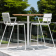 Table de Bar Ceru Teck/Blanc Oasiq Jardinchic