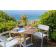 Table Carrée Plateau Teck & Fauteuils Shine Emu JardinChic