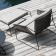 Fauteuil Club Sandur Structure Anthracite Cordage Taupe et Repose Pieds Sandur Coussins vendus en accessoires Oasiq Jardinchic