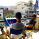 Table d'appoint à suspendre BalKonzept Bleu Rephorm Jardinchic