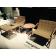 Repose-Pieds / Table Basse et Fauteuils Loungette Taupe Salon Milan 2015 Serralunga Jardinchic