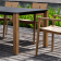 Table Repas Machar Pieds Teck Plateau HPL Oasiq Jardinchic