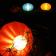 Lampes Oursin Orange, Bleu et Jaune Safran Paradedesign Jardinchic
