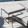 Fauteuil Sandur et Repose-pieds Sandur Cordage Taupe Structure Anthracite Coussins greige vendus en accessoires Oasiq Jardinchic