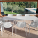 Table Allongeable Round Plateau en tôle Blanc Emu JardinChic
