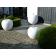 Sculptures pommes polyrésine 80cm Blanc brillant Terraliet Jardinchic