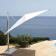 Parasol à Mât Déporté Shade Aluminium/Blanc Emu JardinChic