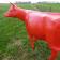 Statue Vache Rouge - Vue de dos - Tex Artes Jardinchic