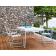 Table Repas Corail 140x80cm Blanc avec Chaises de Repas et Fauteuils de Repas Corail Oasiq Jardinchic