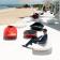 Table de Salon Ufo Rouge Plateau Verre Noir (uniquement sur demande) avec Fauteuils et Canapés Ufo Vondom JardinChic