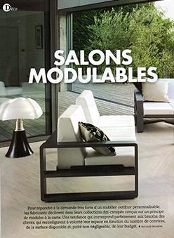 Sélection Salons Modulables Extérieurs Design Janvier Février 2016