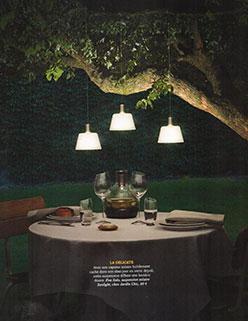 Parution Extérieurs Design Juillet Août 2016 JardinChic Luminaires au jardin