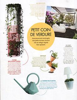 Parution Extérieurs Design Juillet Août 2016 JardinChic Petit coin de verdure